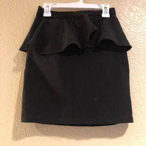 ⚡️ Peplum Mini Skirt